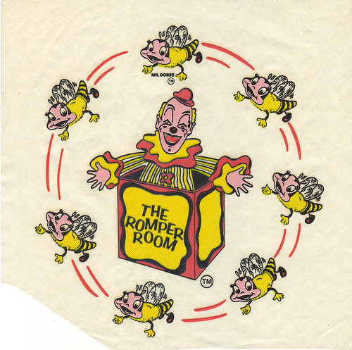 Romper Room Iron On featuring Mr DooBee - 1960s