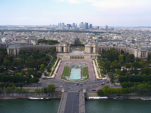 Trocadero vu de la tour Eiffel