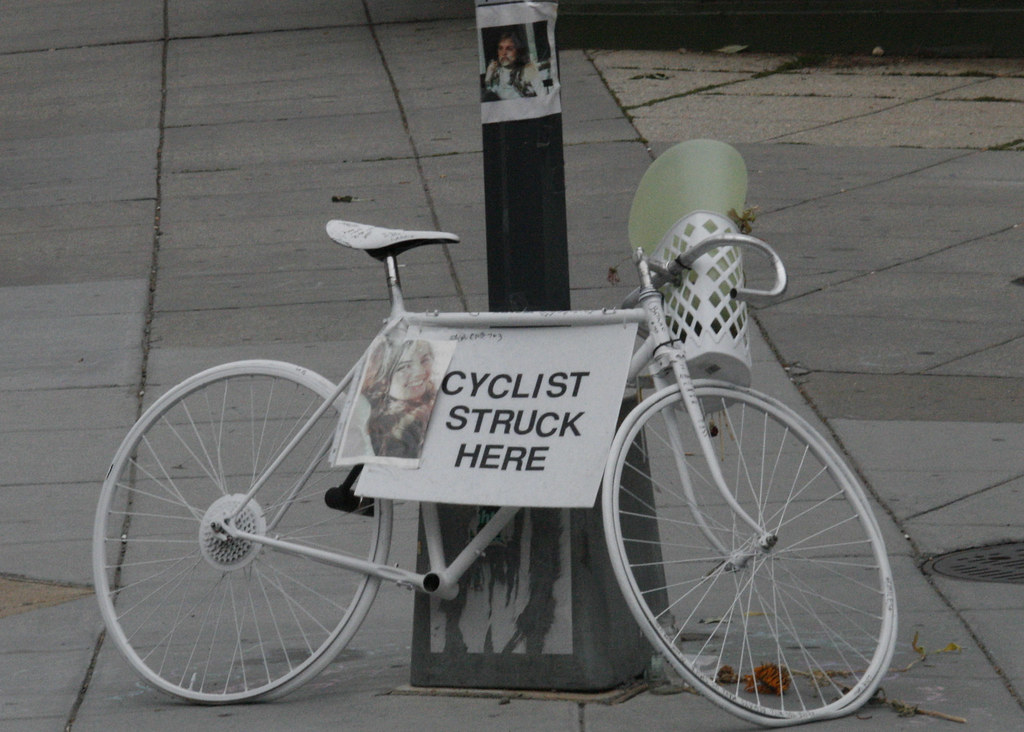Ghost Bicycle @ 20th/R & Ct. Ave. NW in Memory of Alice Swanson