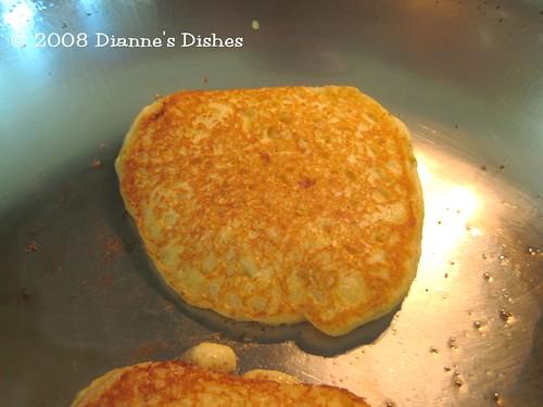 Corn Cakes: Browning