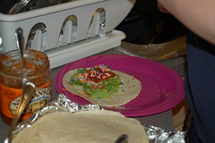 Taco Night (GirlOnAMission) Tags: food allison weird tacos sprinkles april 2008