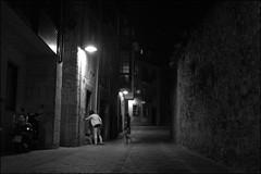 (Juampa Mola) Tags: street light sea espaa luz luces noche mar calle asturias llanes norte callejn asturies cantabrico
