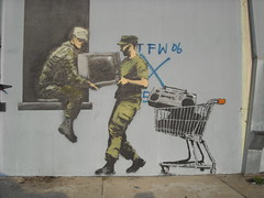 Banksy - New Orleans - But I thought they were the Good Guys?
