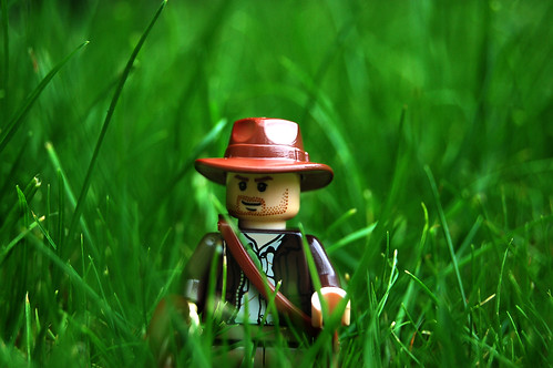 LEGO Indiana Jones in Grass by Rob Young