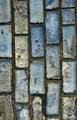 Cobblestones, Old San Juan, Puerto Rico (jogorman) Tags: world road street old blue usa streets brick heritage church puerto island la us site san cathedral juan puertorico path united bricks colonial churches unesco rico cobblestones cobblestone spanish fortaleza paving states cobbles viejo len ponce territory paved jamesogorman adoquine