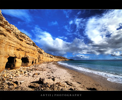 Hiding in Cavities :: HDR (:: Artie | Photography :: Happy 2016 !) Tags: sea sky beach water clouds photoshop canon cs2 australia wideangle holes caves shore adelaide 1020mm southaustralia hdr artie 3xp sigmalens photomatix tonemapping tonemap 400d wilunga rebelxti portwilunga