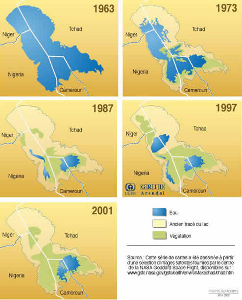 carte lac Tchad