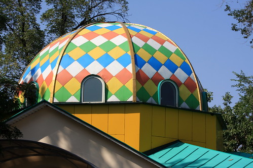 Cool domed roof in Panfilov Park (by Yodod)