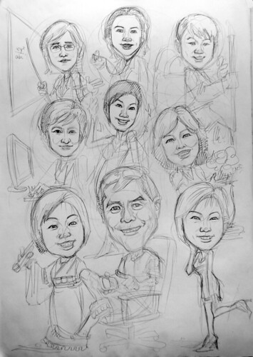 Caricatures for Spencer Stuart (HK)  pencil sketch
