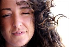 """(bisbiglio [in arte """"sbibb""""]) Tags: portrait woman girl female donna eyes occhi sguardo serena ritratto smorfia vento volto"""