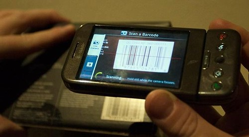 The ShopSavvy barcode scanner in action by you.