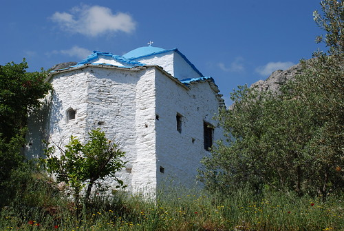 White greek Church on Samos
