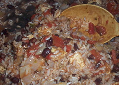Mexican Chicken & Beans cooking in 1 pot
