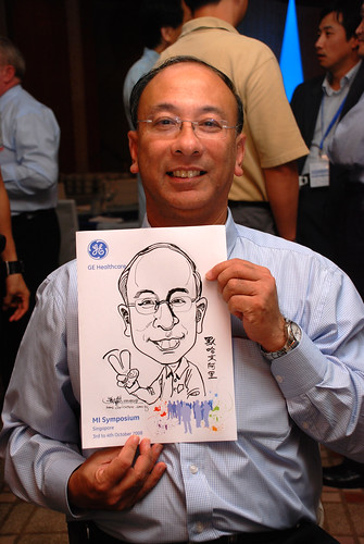 Caricature live sketching for GE Healthcare MI Symposium 6