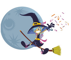 Brujilla (Wilson Becerra) Tags: moon halloween hat witch magic luna sombrero broom hallowen magia bruja escoba ostubre
