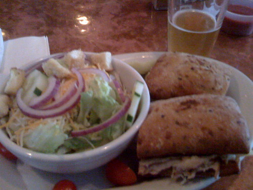 Turkey Cuban Sandwich and Salad at Heroes