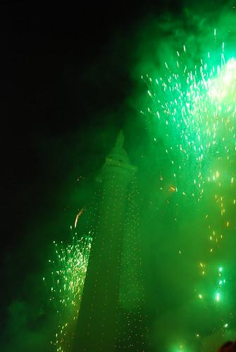 Lighting of the Washington Monument