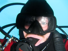 Fat Lips (Travis S.) Tags: alaska bag underwater mask cove gear scuba diving hood reg hoses drysuit whittier regulator dring smittys smittyscove bcinflator