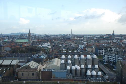 Dublin - Vista desde el bar panorámico de la fábrica de cerveza negra Guinness