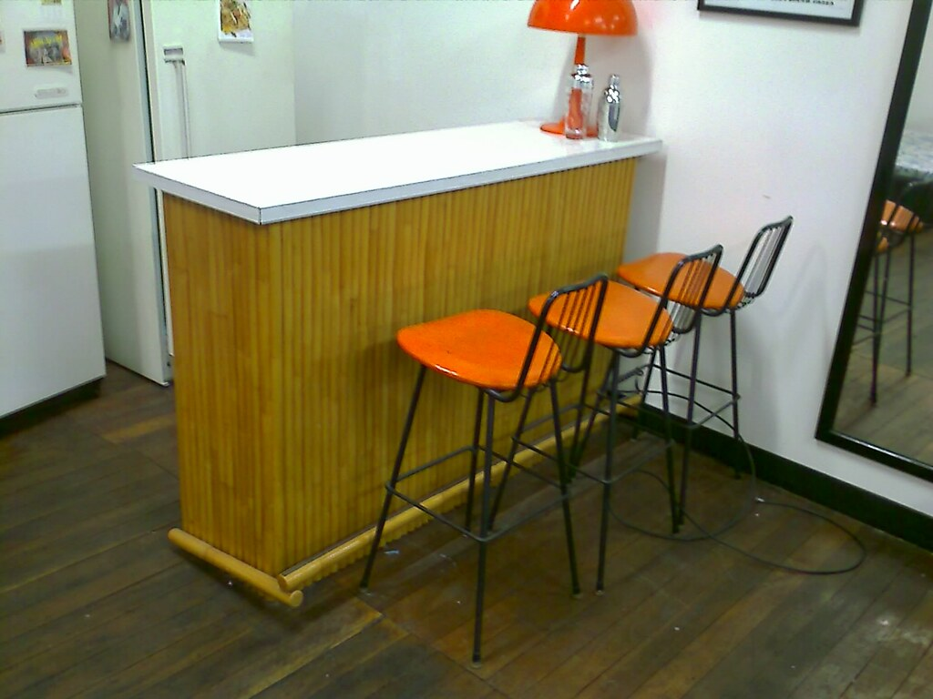 FOR SALE: bar and three stools, fridges