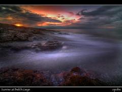 Sunrise at Bwlch Gwyn (opobs) Tags: sky storm beach water southwales wales sunrise dawn seaside rocks waves bcc wfc ogmore valeofglamorgan bridgend ogmorebysea bwlchgwyn welshflickrcymru opobs bridgenddistrictcameraclub michaeljstokesawpf craigyreos