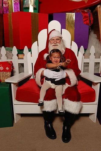 Ava and Santa 2008