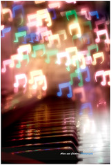 Beethoven and Bokeh (aliveandclickin) Tags: christmas winter holiday snow lights interestingness notes bokeh piano explore musical explored customshape diybokeh