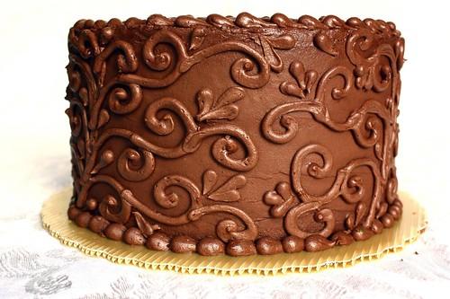 Chocolate Truffle Cake - sides