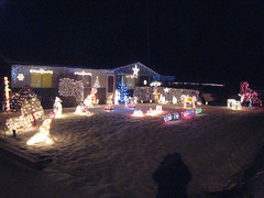 Suburban Christmas lights