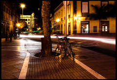 Bicycles (Katka S.) Tags: city las sea espaa car bicycle night silver lights islands spain long exposure foto erasmus capital competition ciudad canarias medal atlantic gran canary 2008 islas canaria palmas llp aplusphoto fotocompetition fotocompetitionbronze fotocompetitionsilver fotocompetitiongold