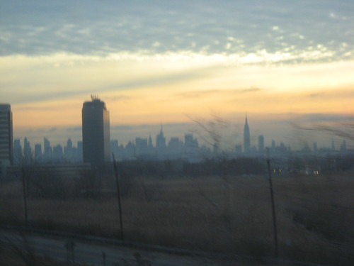 View of NYC from NJ, December Morning