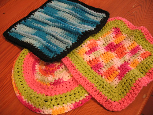 Crochet washcloths for kids