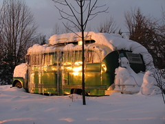 Emerald Gypsy :: as the sun sets (origamidon) Tags: old sunset usa snow bus ford vintage vermont cornwall conversion antique wayne funky converted schoolbus sunsetlight motorhome f5 icicles 1949 vt repurposed eg skoolie housetruck shortbody housebus addisoncounty egypsy emeraldgypsy origamidon cornwallvermontusa donshall snowford 05753