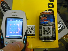 Qrcodes (nickj365) Tags: max smart mobile nokia technology phone geek reader scanner tag content smartphone future barcode pepsi 2d tagging qr yellowpages iphone qrcode encode kaywa beetagg quickmark physicalhyperlink inigma zxing realworldhyperlink mbarcode