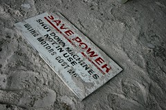 Save Power (Matthew Kelly) Tags: red money abandoned sign canon power floor matthew north urbanexploration mineral kelly limited ltd derelict decayed ue urbex humberside 28dayslater 400d harborlite manufactorer