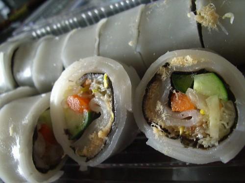 你拍攝的 粄條壽司。