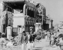 42-15890735 (colonialbalochistan) Tags: city pakistan people men earthquake ruins asia asians group disaster males indians waste adults rubble naturaldisaster disasteranddestruction quetta midadult midadultman southasians balochistan
