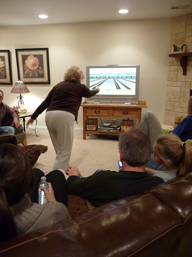 nana helen getting her wii bowl on