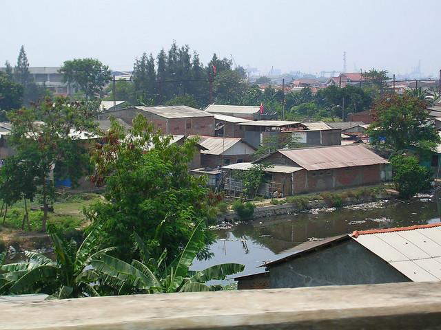 Jogjakarta slum river