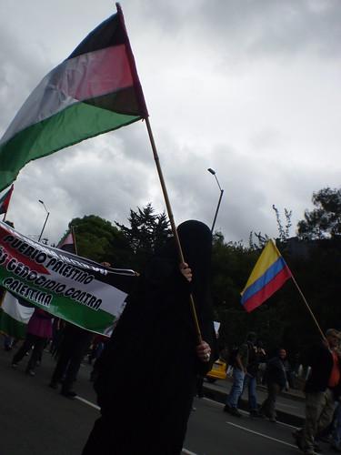 Marcha apoyo a Palestina / Gaza en Bogotá, Colombia - 20090106 - 1061730