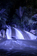 biru (Farl) Tags: longexposure travel colors night river indonesia falls waterfalls sulawesi artificiallight makassar southsulawesi sulawesiselatan bantimurung