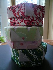 Debbie's Hexagon Origami Boxes