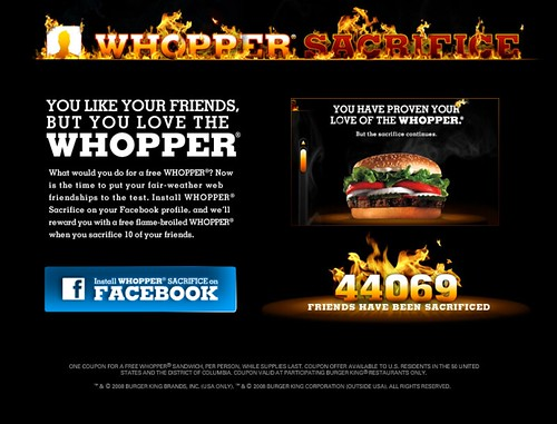 WHOPPER® SACRIFICE