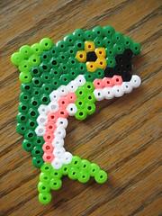 Perler Bead Bass Fish (Kid's Birthday Parties) Tags: fish project beads craft bead beading hama blowfish perler craftproject hamabeads perlerbeads