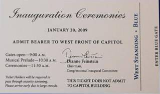 Obama Inauguration Ticket