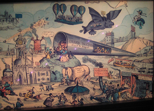 Future of the Tube cartoon in London Transport Museum