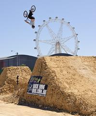 "Rockstar ""Backbone King Of Dirt"" BMX Games 09 (D3 Photography) Tags: wheel nikon bmx day cross rockstar sigma australia melbourne games southern dirt docklands 2009 jumps d3 50mmf14 backflip"