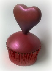 Be My Valentine (SmallThingsIced) Tags: love cake heart valentine cupcake lustre fondant bemine