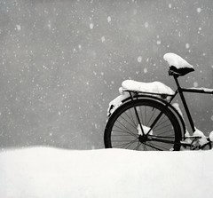 Untitled (JenniPenni) Tags: bw snow bike finland 365 untitled digitalartistry overtheexcellence atleastsofar yupitsfunoutside