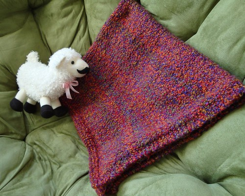 Knit Homespun Baby Blanket 6
